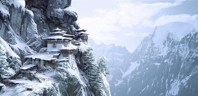 Паро Такцанг зимой